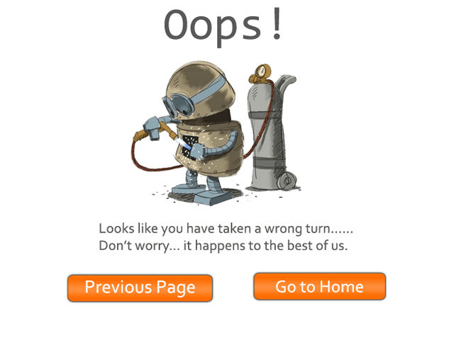 An effective '404 error: Page Not found' page