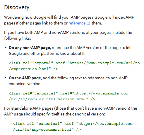 HTML changes for AMP pages